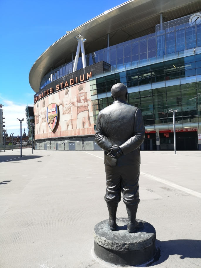 Herbert Chapman outside Emirates